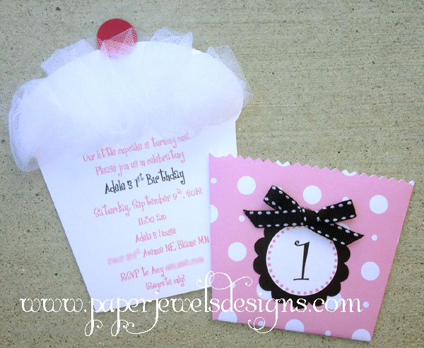 with a cherry on top cupcake invitation