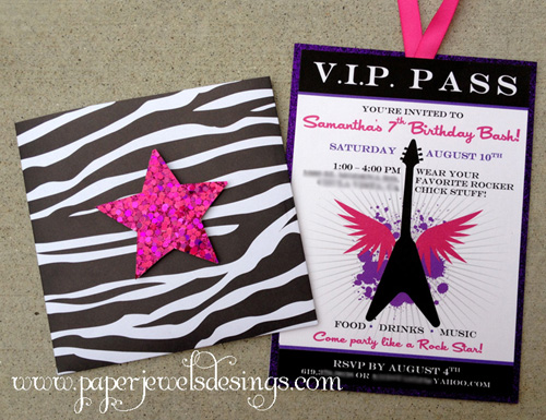 """Rock Star"" VIP Pass"