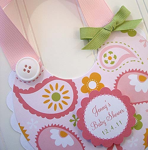 """Sweet Baby Bib"" Invitations"
