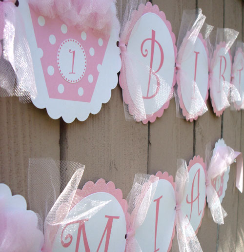 """Cupcake"" Happy Birthday Banner"